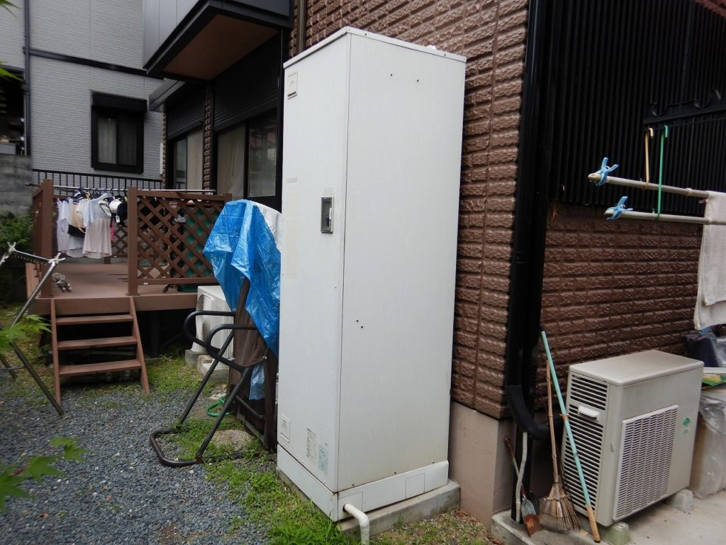三菱の電気温水器が故障
