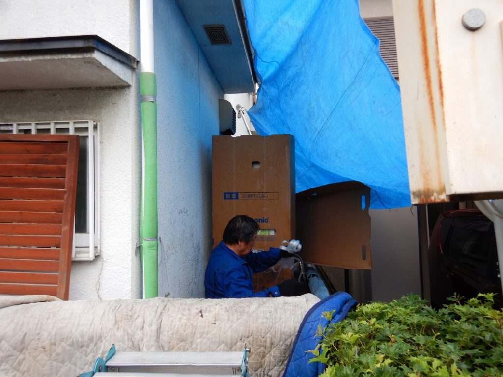 梱包で搬入