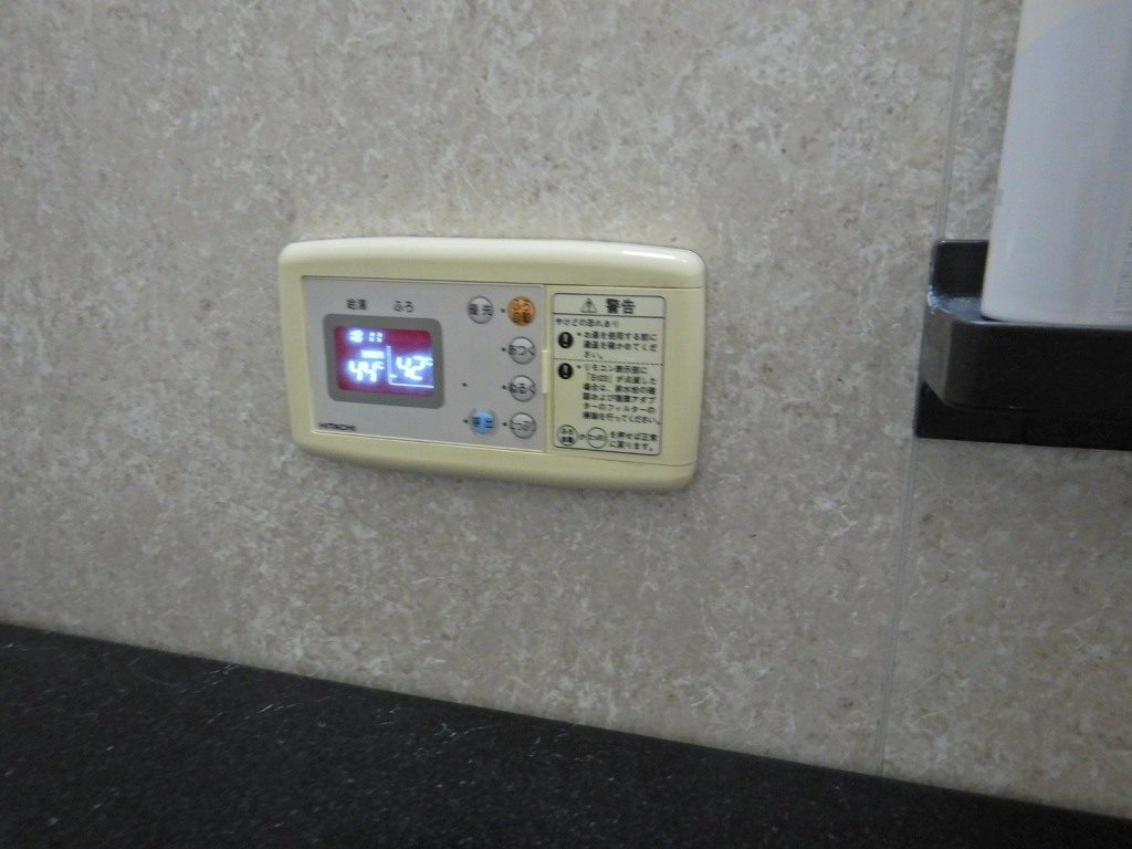 電気温水器の風呂リモコン